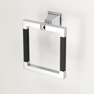Time Black Towel Ring