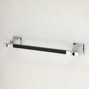 Time Black Single Towel Rail