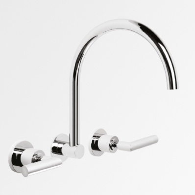 City Lever 240mm Wall Set