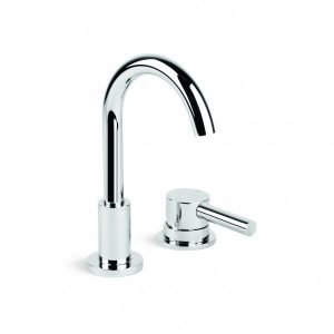 City Plus 'D' Lever Basin Set With Hob Mounted Mixer