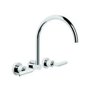 City Plus 'B' Lever Wall Set With Swivel Spout
