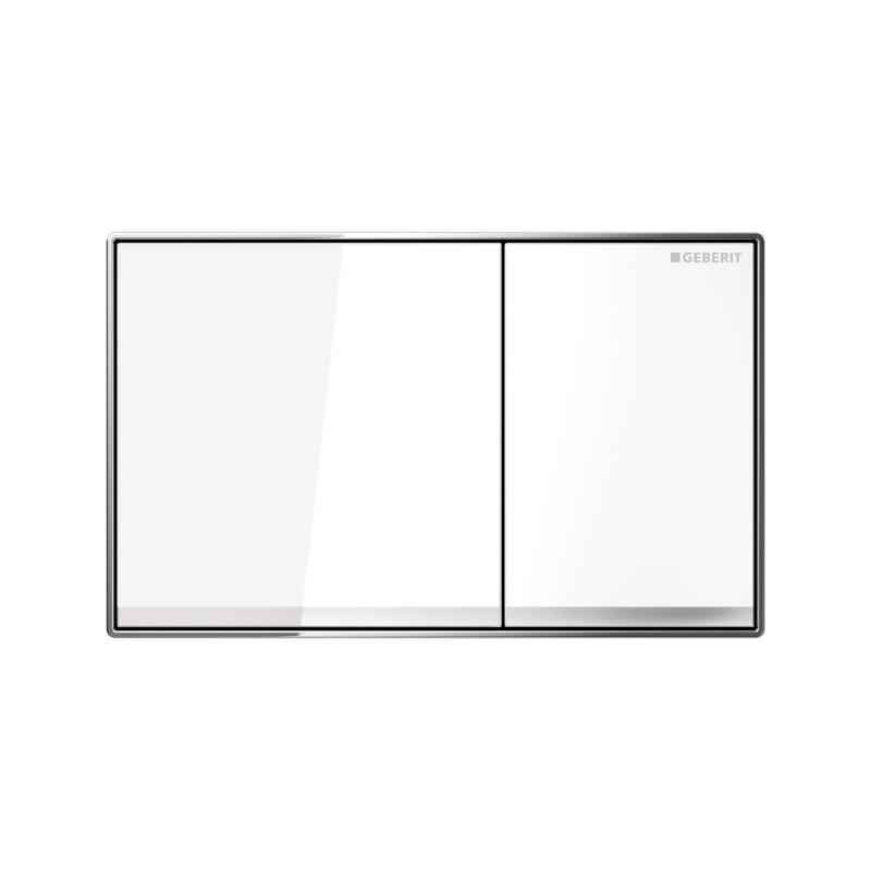 Candana Sigma60 Flush Button White Glass