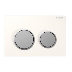 Kappa21- White/Matt Chrome Buttons/Matt Chrome Trim