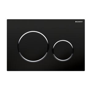 Sigma20 Flush Button- Black/Chrome Trim