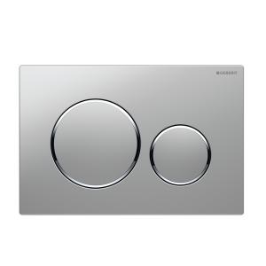 Sigma20 Flush Button- Matt Chrome/Chrome Trim