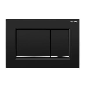 Sigma30 Flush Button- Black/Chrome Trim