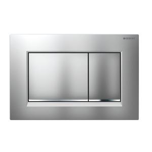 Sigma30 Flush Button- Matt/Chrome Trim