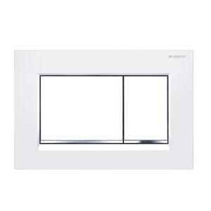 Sigma30 Flush Button- White/Chrome Trim