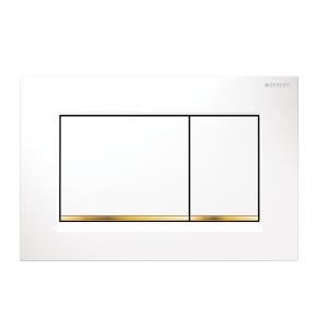 Sigma30 Flush Button- White/Gold Trim