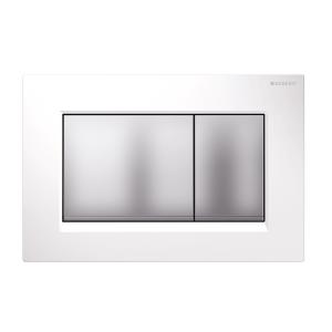 Sigma30 Flush Button- White/Matt Chrome Buttons/Matt Chrome Trim