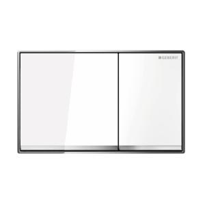 Sigma60 Flush Button- White Glass