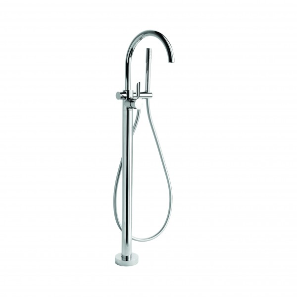 City Lever Floor Bath Mixer w/ Handshower