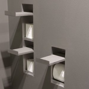 Sesamo Recessed Toilet Roll Holder