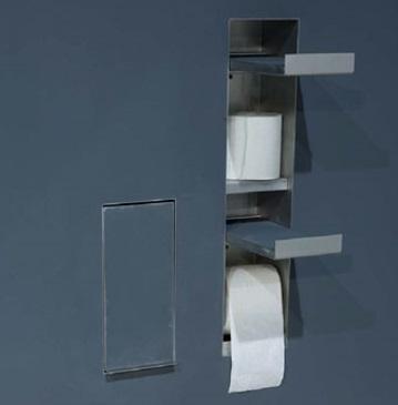 Candana Sesamo Recessed Toilet Roll Holder Spare