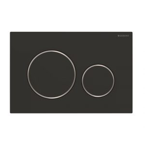 Sigma20 Flush Button- Matt Black/Chrome Trim