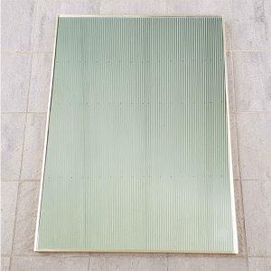 Raw Brass Framed Rectangular Mirror