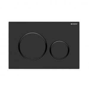 Sigma20 Flush Button- Matt Black/Black Trim