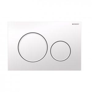 Sigma20 Flush Button- Gloss White/White Trim