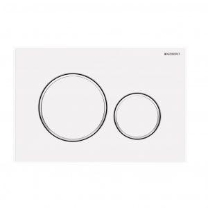 Sigma20 Flush Button- Matt White/White Trim