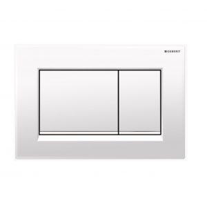 Sigma30 Flush Button- Gloss White/White Trim
